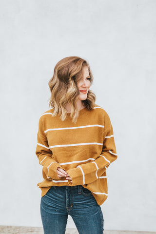Mess Is Mine Sweater - Mustard