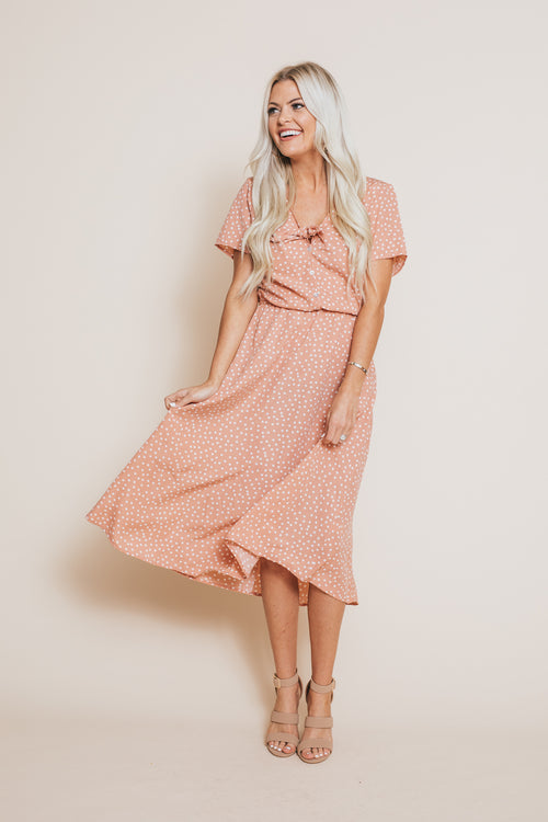 Celeste Polka Dot Dress