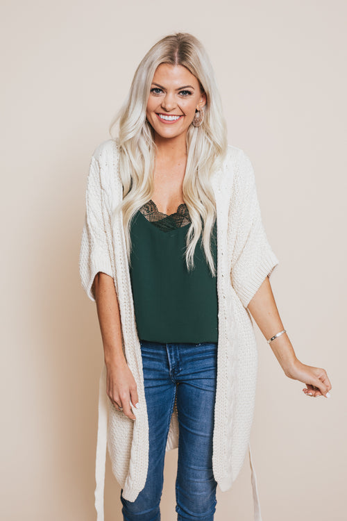 Darling Cable Knit Cardigan