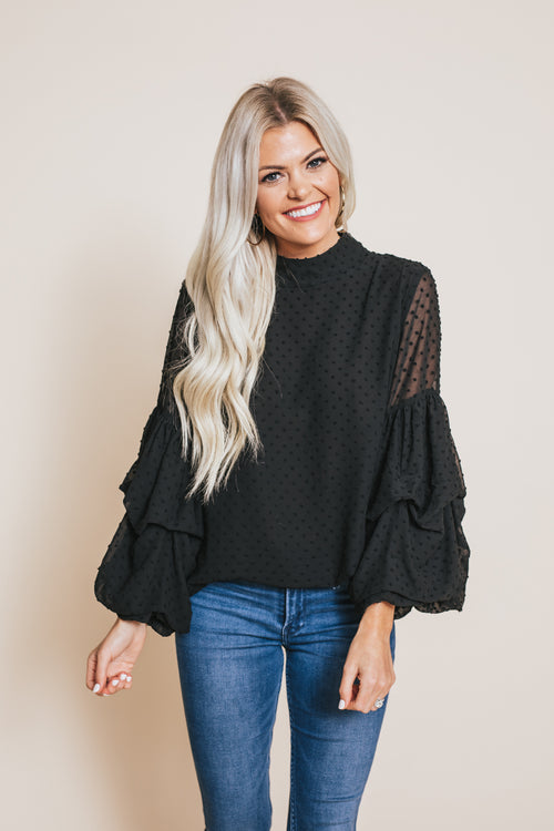 Thrill Of It All Top - Black