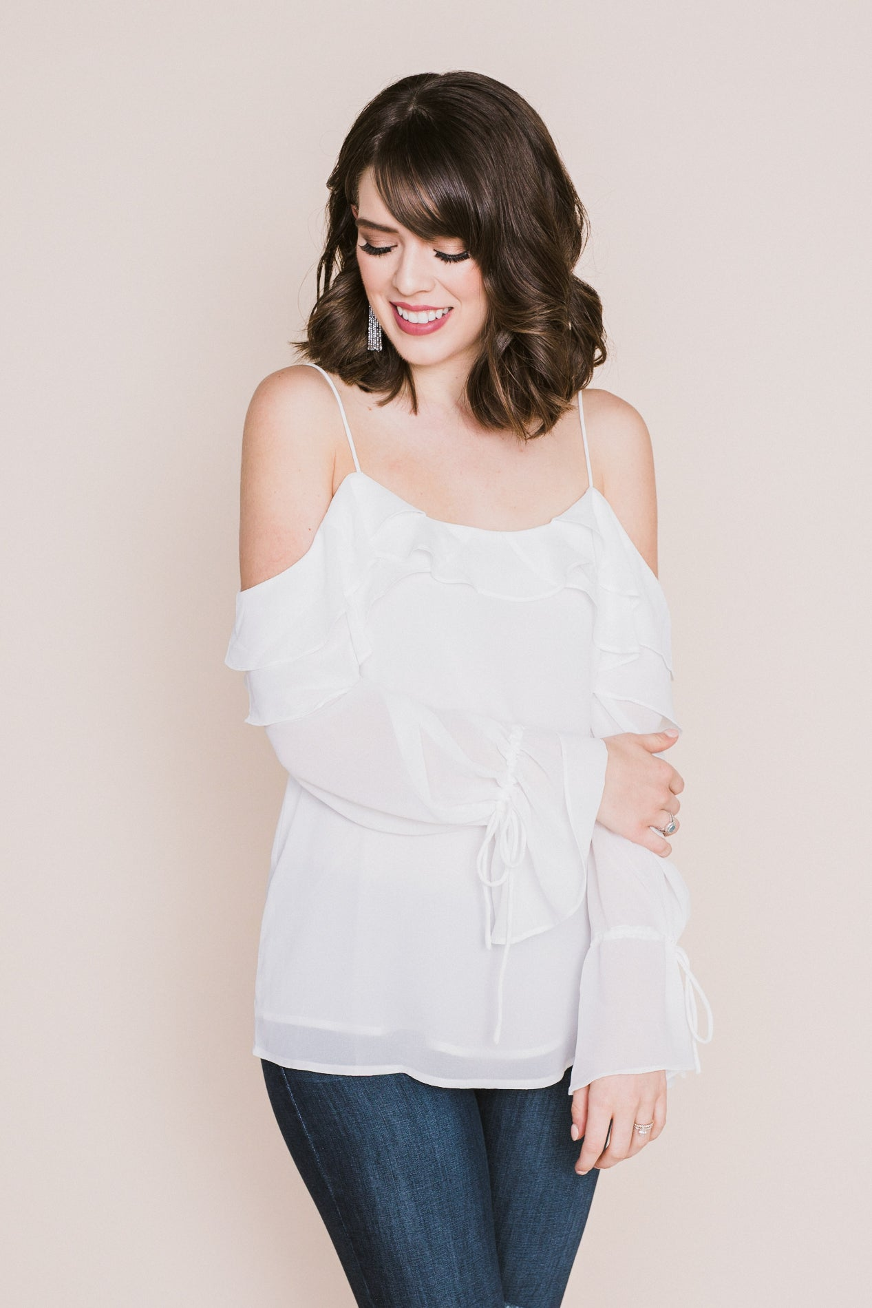 Every Little Thing Ruffle Front Top