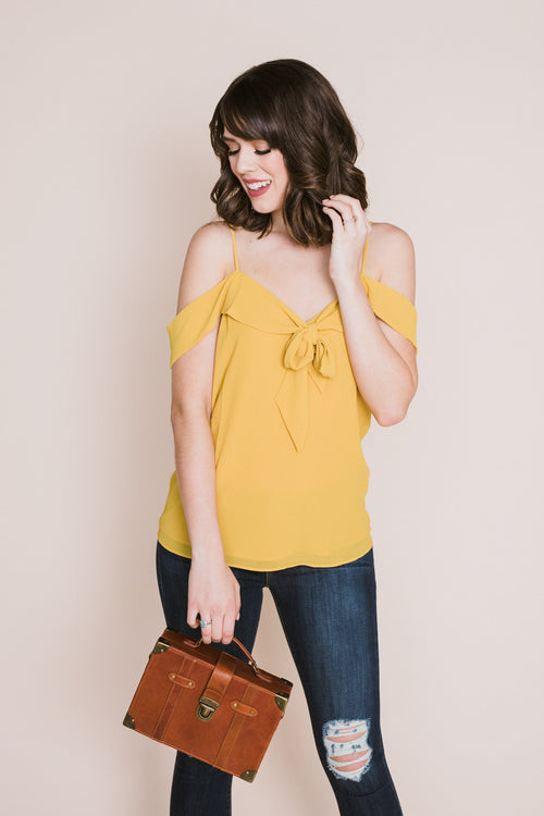 Golden Hour Front Tie Blouse