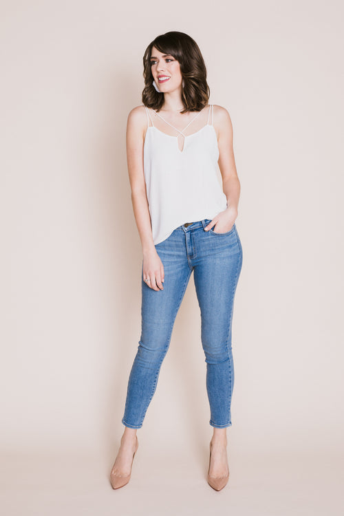 Medium Denim Ankle Skinny