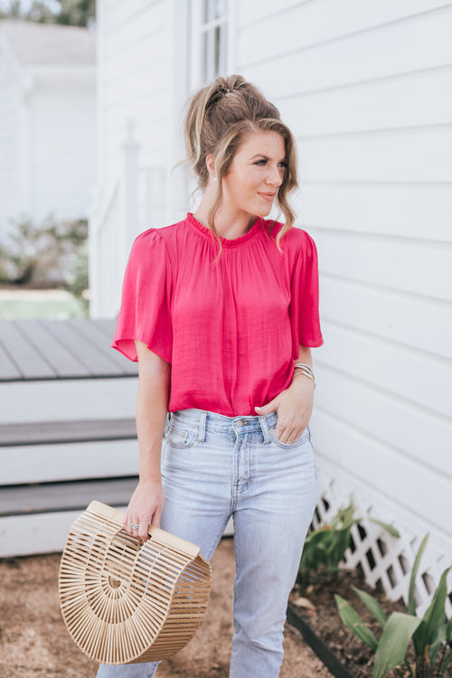 Feel Like A Woman Blouse - Pink