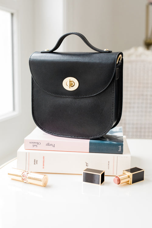 Michele Leather Bag - Black
