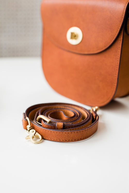 Michele Leather Bag - Tan