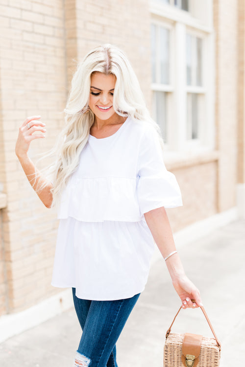 Hayden Double Layered Ruffle Top
