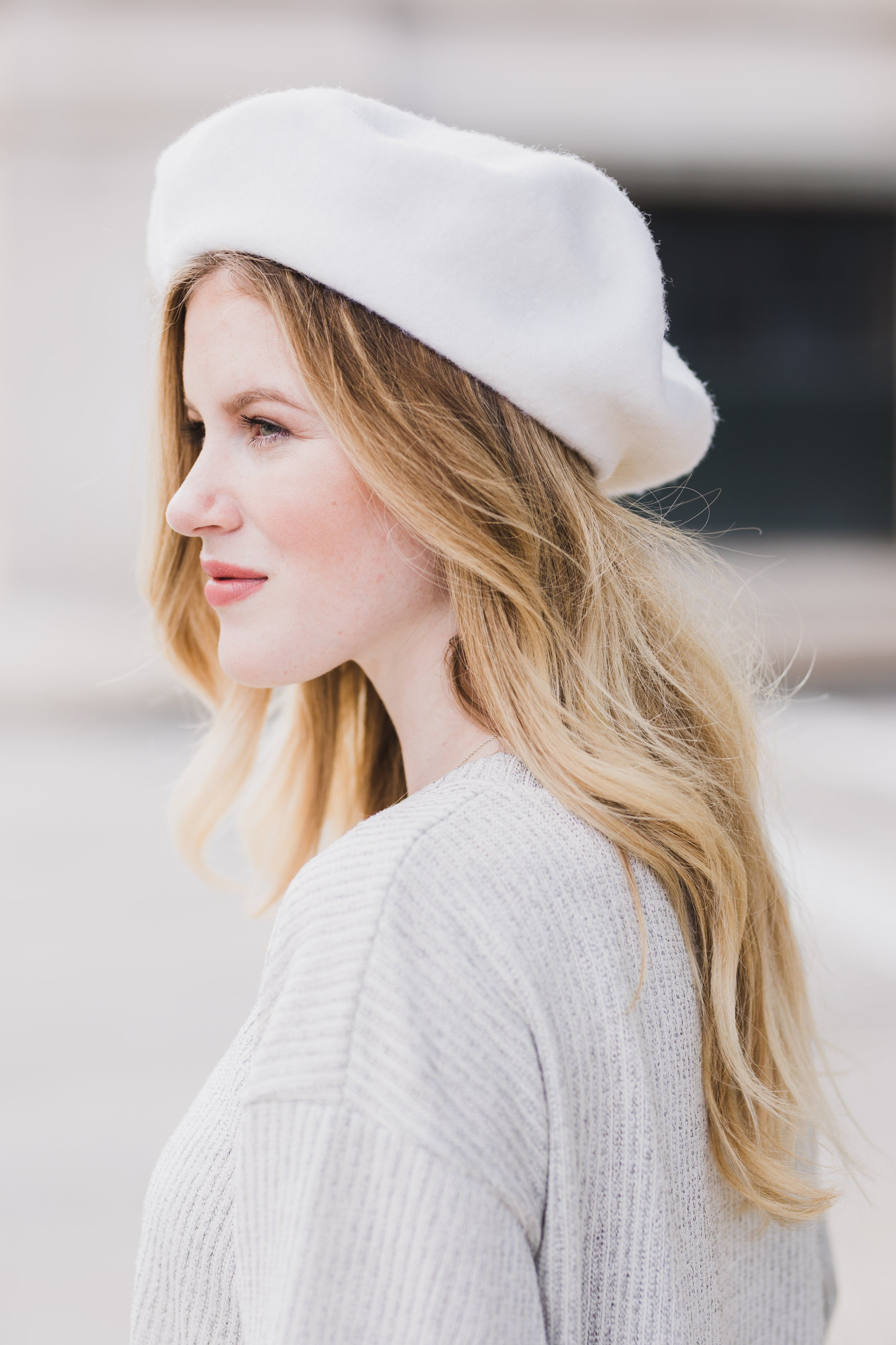 Julia Wool Beret - Ivory *FINAL SALE*