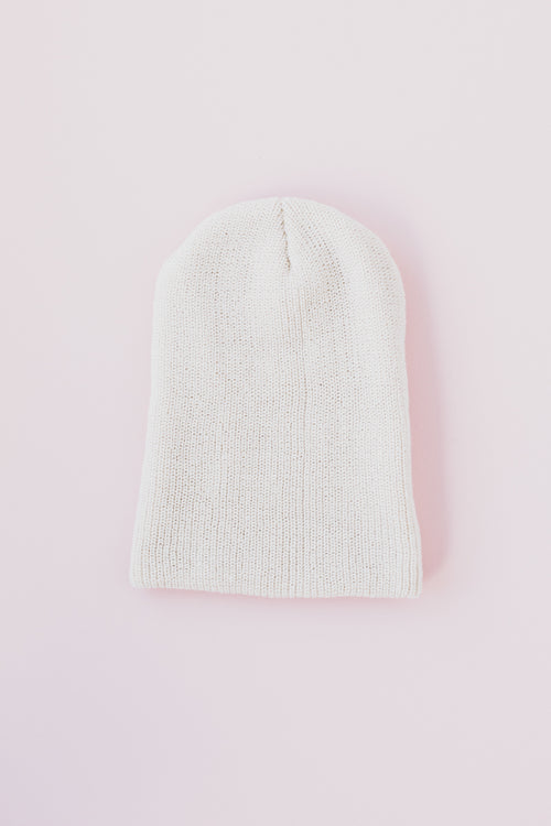 Say It First Slouchy Knit Beanie - Oatmeal