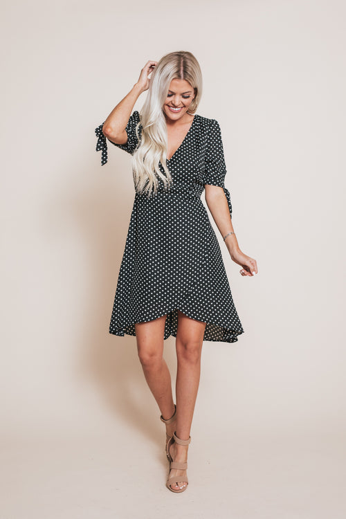 Sweet Jazz Polka Dot Dress