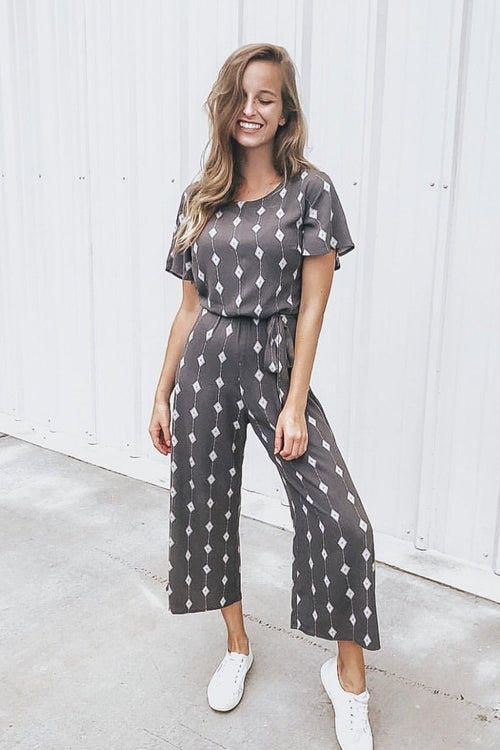 Your Forever Printed Jumpsuit  *FINAL SALE*
