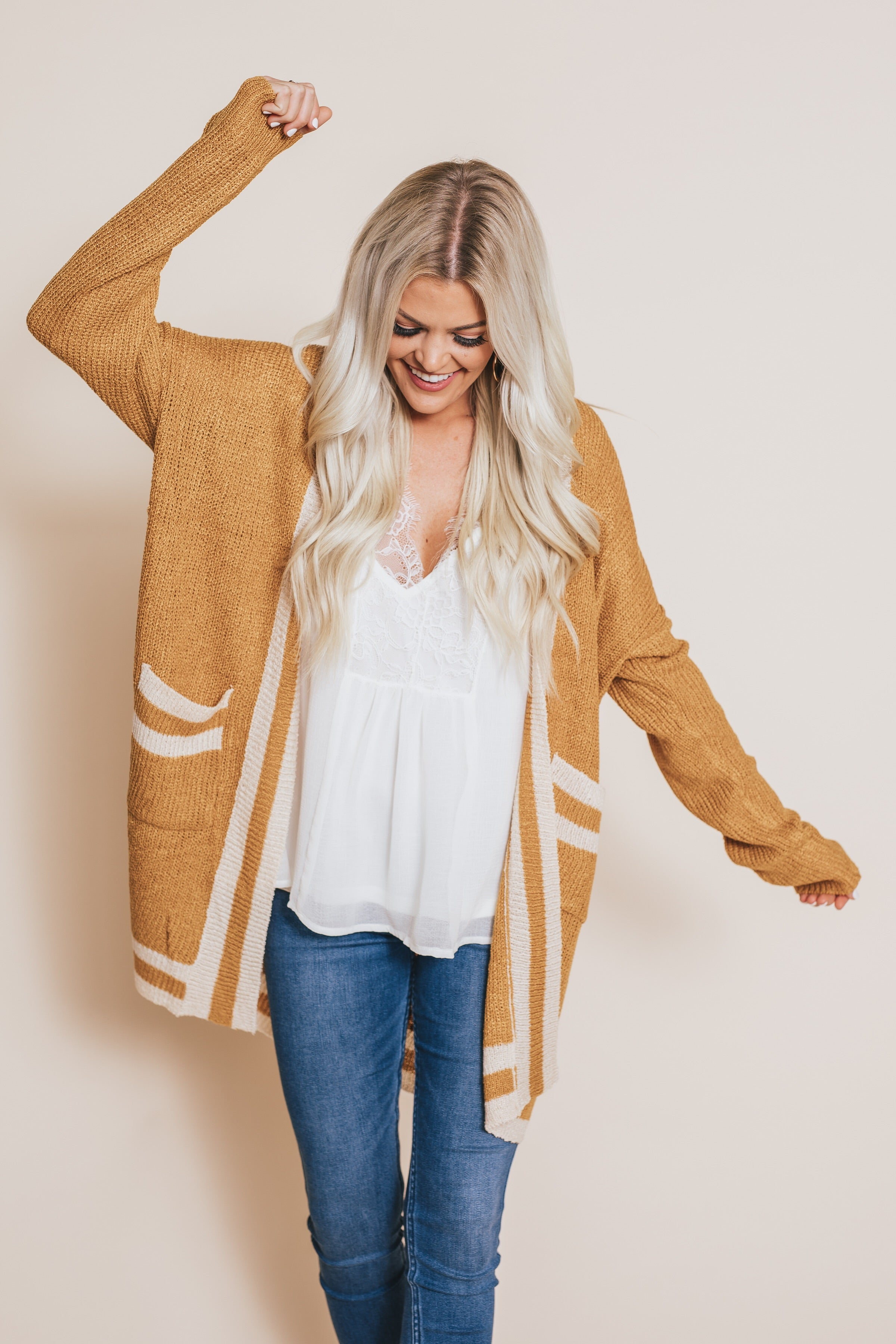 Gotta Have You Mustard Cardigan