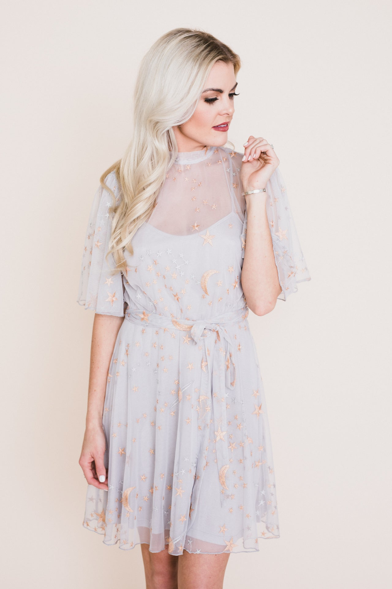 Cosmic Love Embroidered Dress *FINAL SALE*