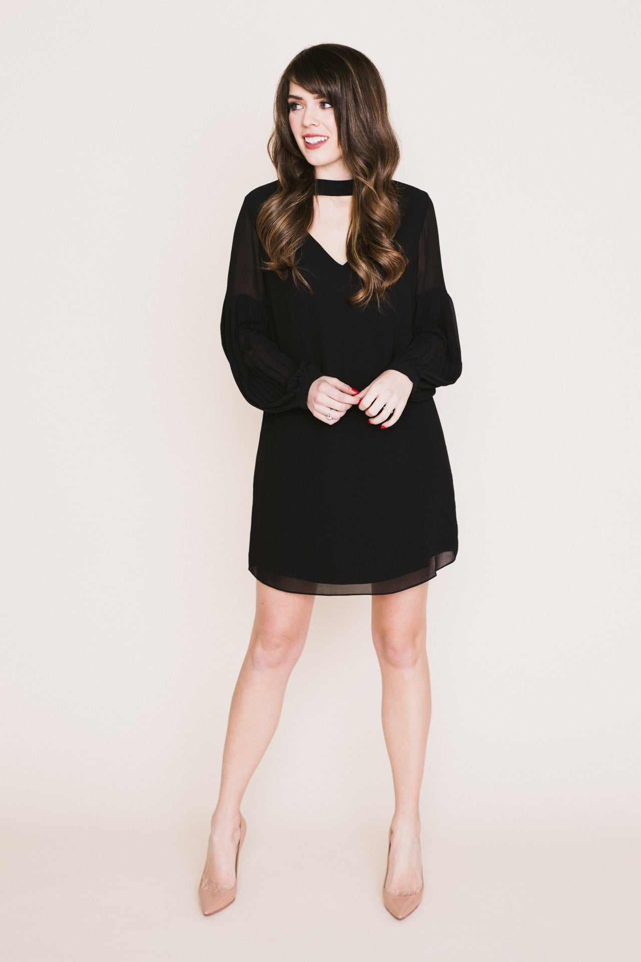 Hannah Pleated Sleeve Dress *FINAL SALE*