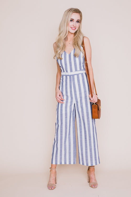 Joanna Striped Jumpsuit