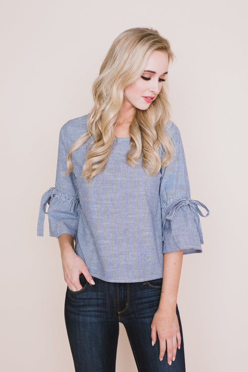 James Tie Sleeve Top