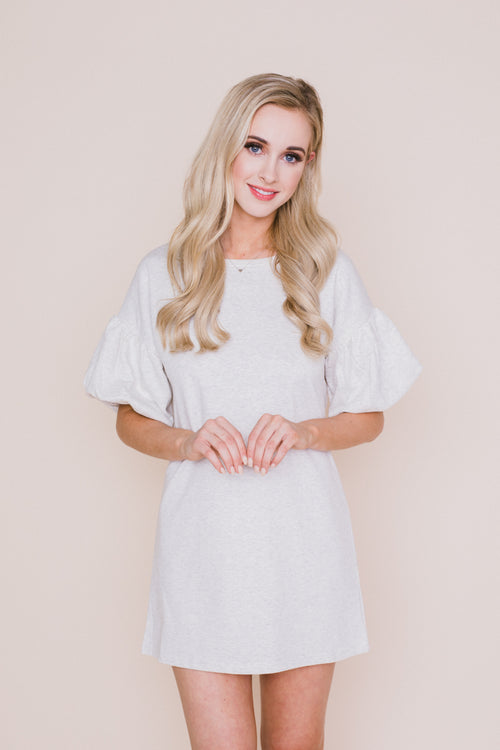 Balloon Sleeve Sweater Dress - Petite