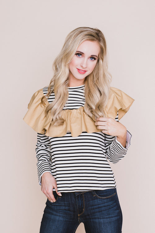 Marie Striped Top *FINAL SALE*