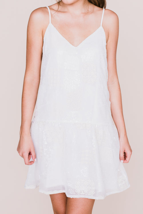 Delaney Sequin White Dress *FINAL SALE*