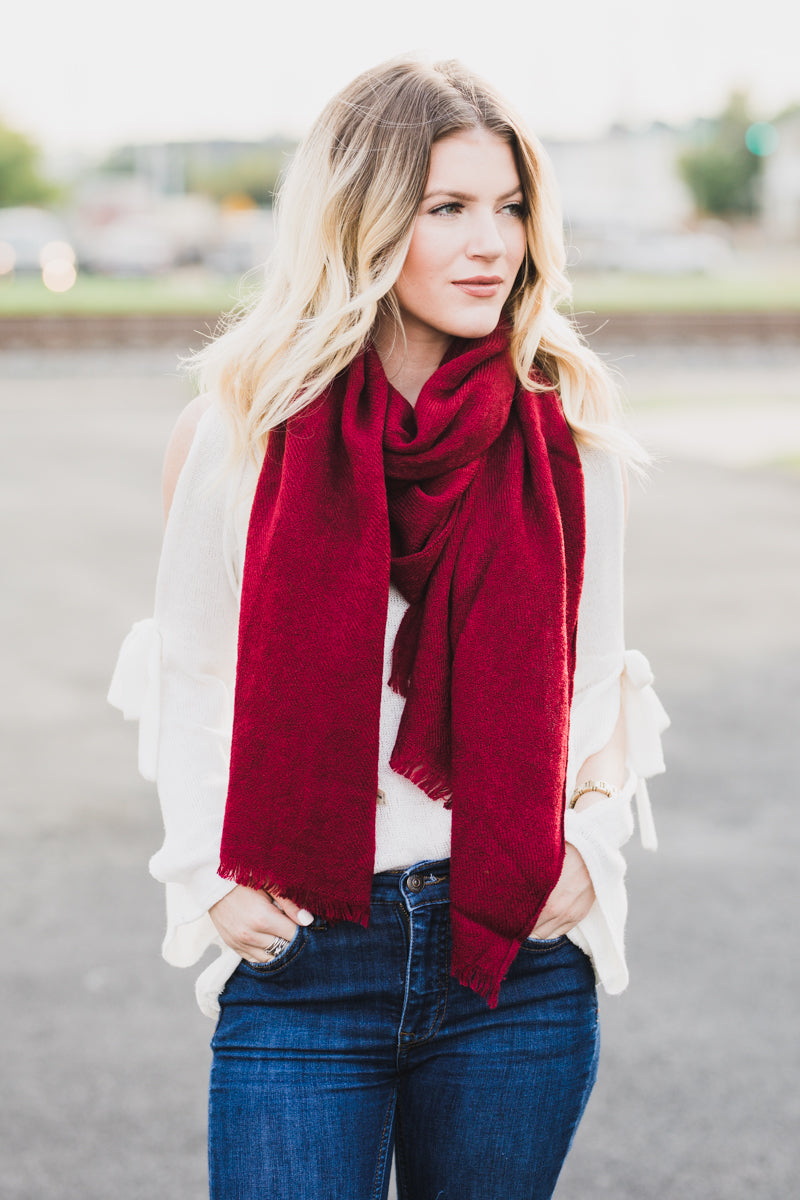 Something Simple Scarf - Burgundy *FINAL SALE*