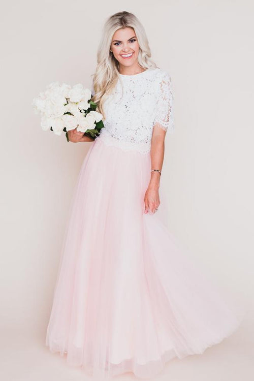 Middleton Tulle Maxi Skirt - Blush Pink