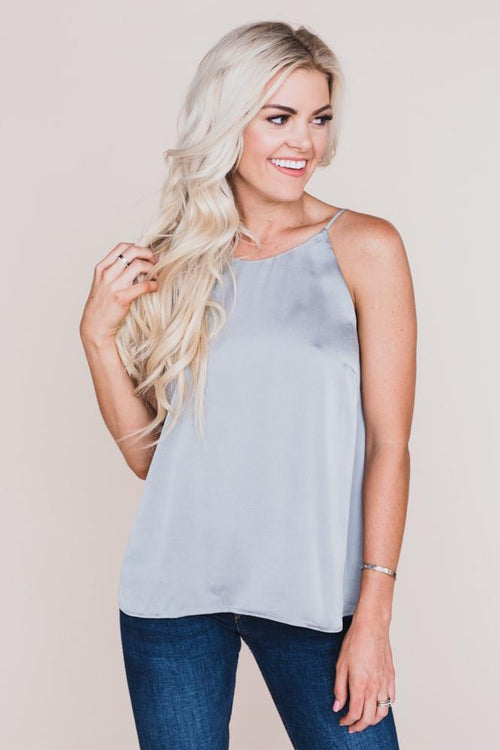 Louise Silk Grey Tank