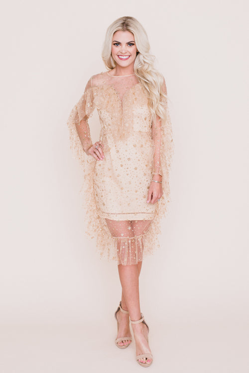 Ultimate Socialite Gold Dress *FINAL SALE*