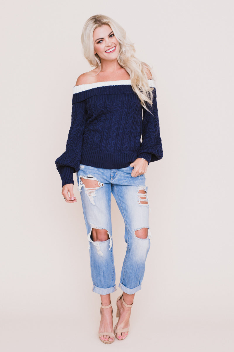 Overboard Off The Shoulder Sweater *FINAL SALE*