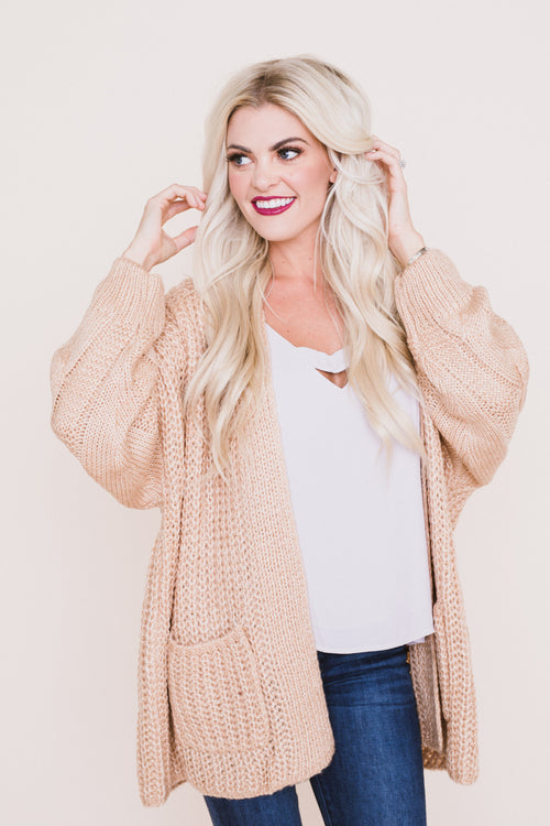 Lincoln Knit Open Cardigan