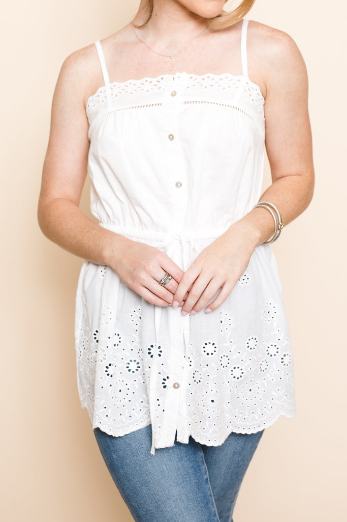 Julie Eyelet Top