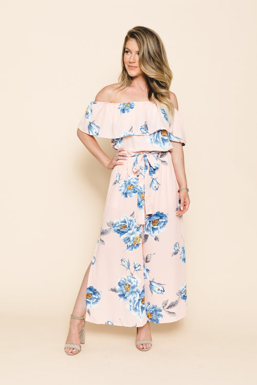 Everly Floral Strapless Jumpsuit