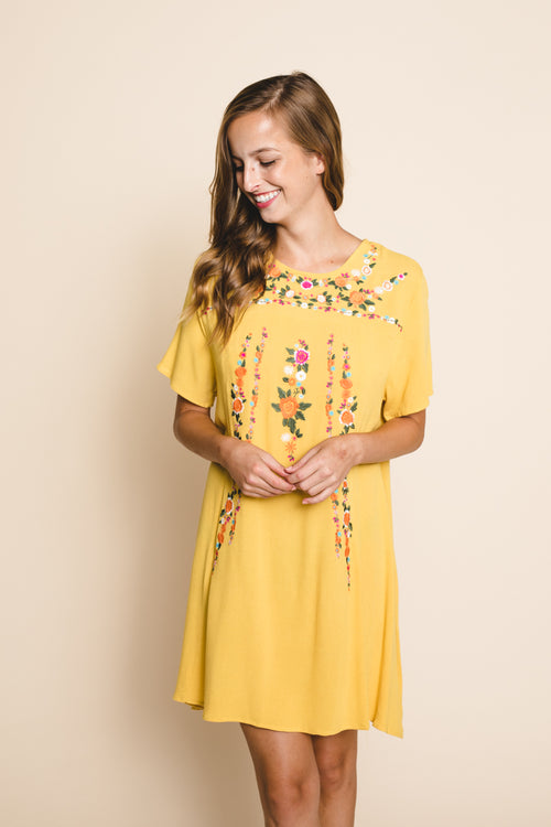 Iris Embroidered Dress  *FINAL SALE*