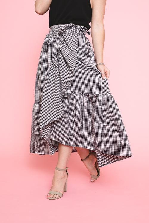 My One & Only Gingham Wrap Skirt