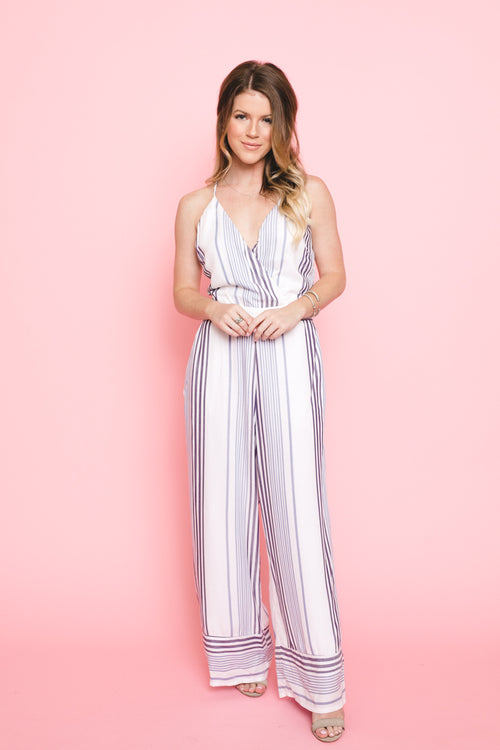Your Midnights Striped Jumpsuit  *FINAL SALE*