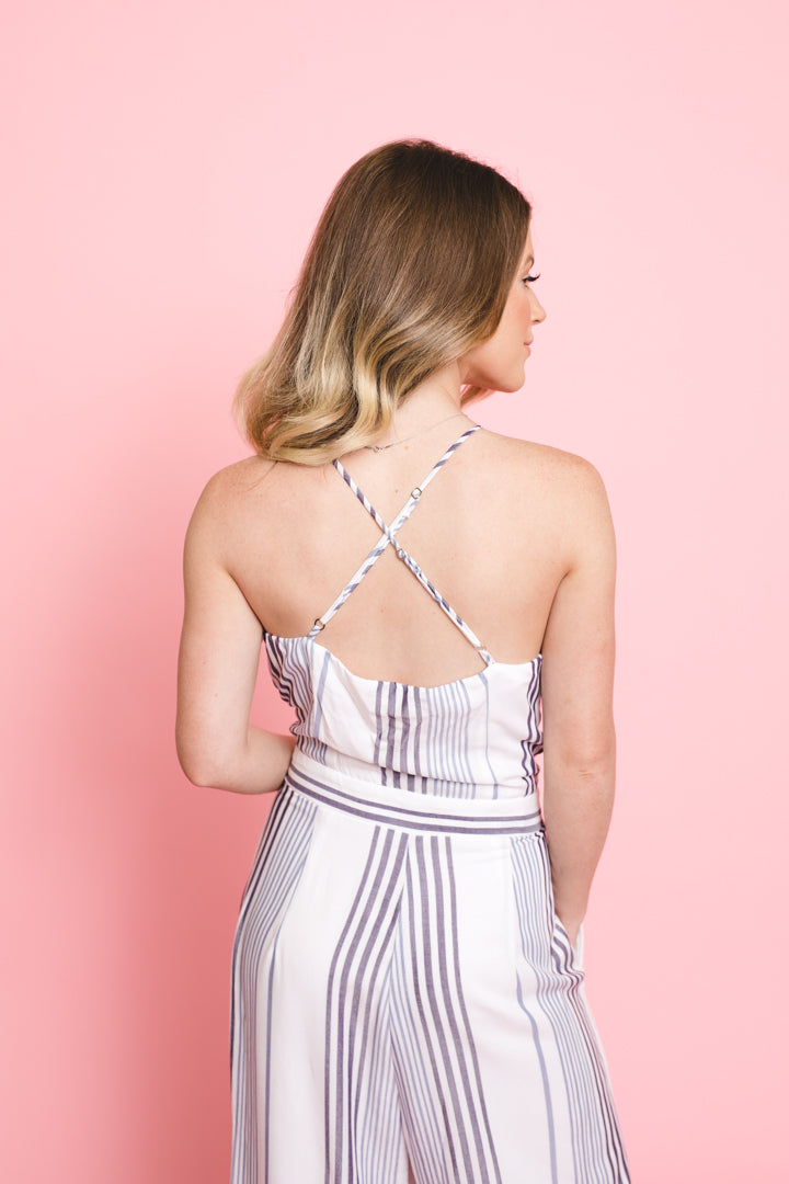 Your Midnights Striped Jumpsuit