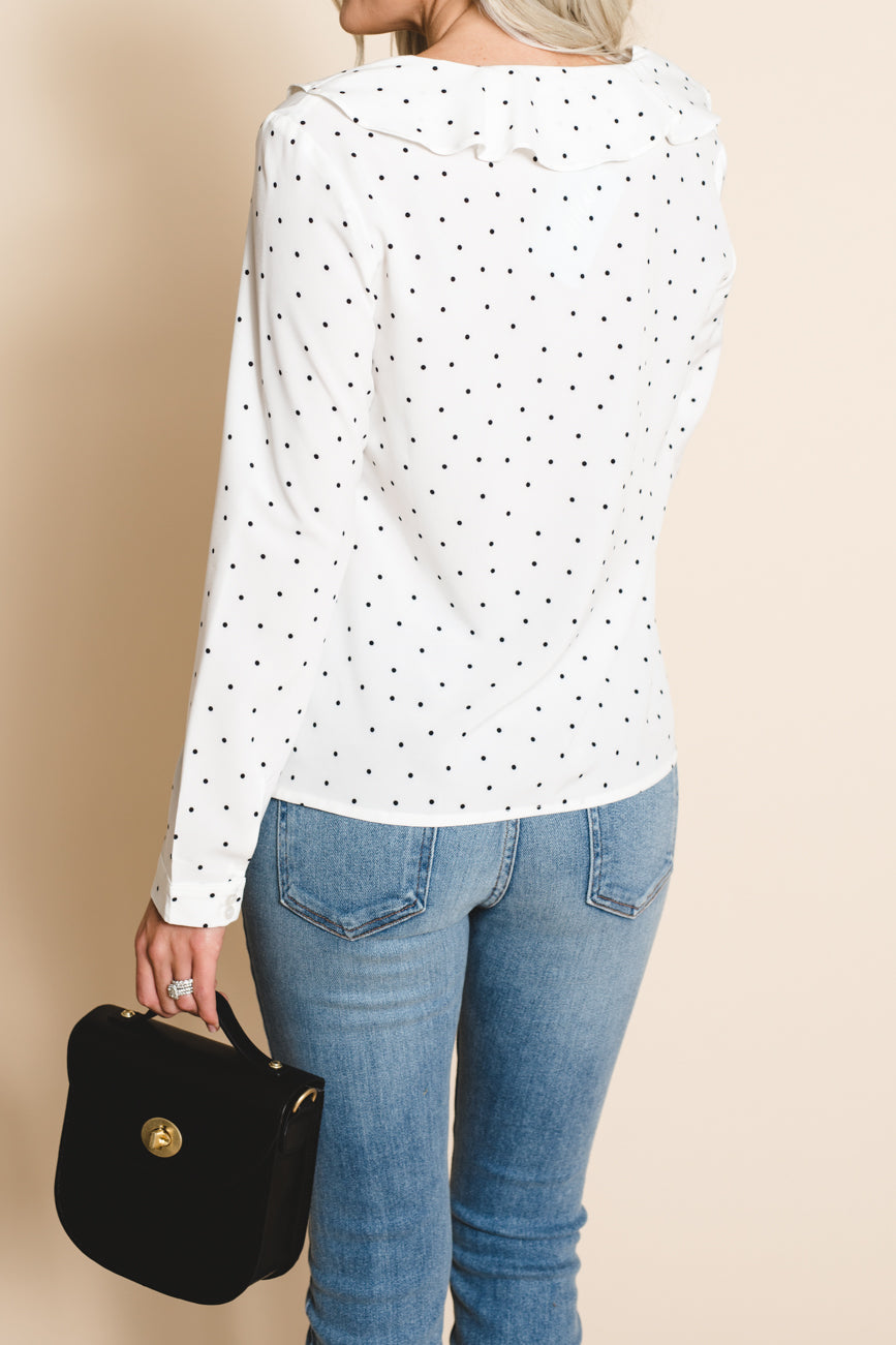 Amy Dotted Blouse