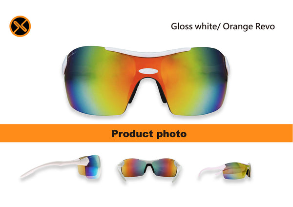 white cycling sunglasses