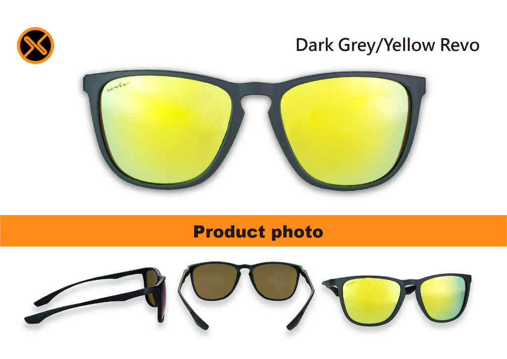 dark grey polarized sunglasses