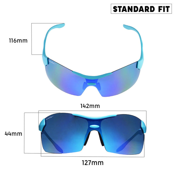 cycling sunglasses size
