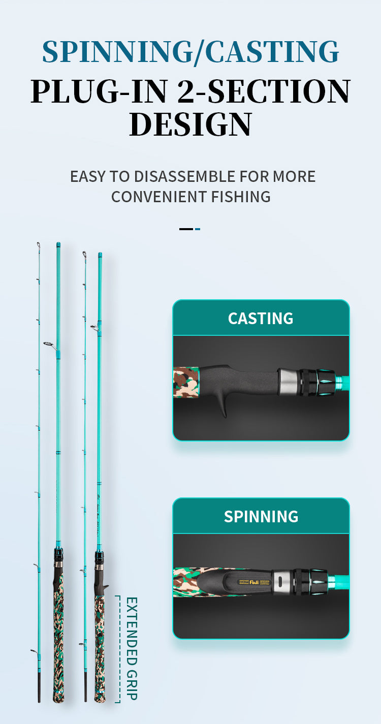 goofish bass popping saltwater fishing rod pole