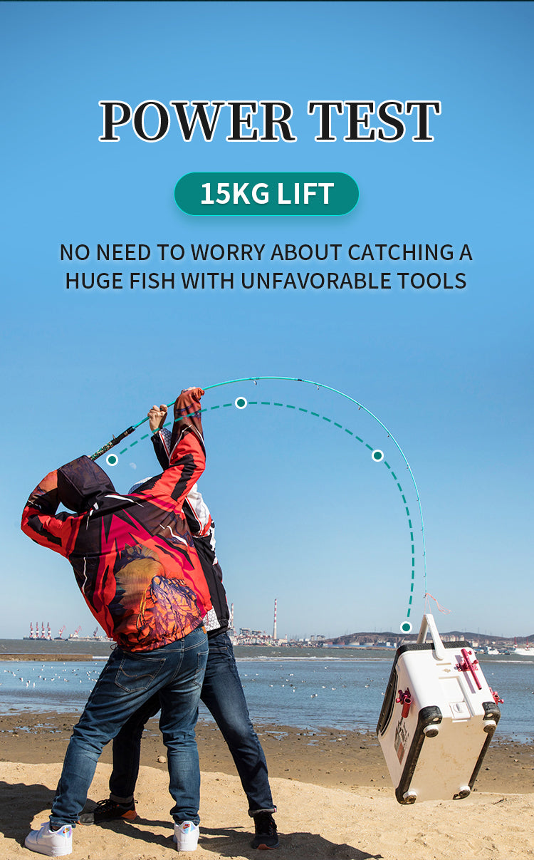 goofish best popping rod 2.4m size bass rod saltwater fishing pole best rod