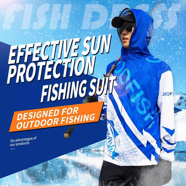 GooFish Sunscreen ultra thin and breathable ice fishing suit men's fast dry outdoor fishing suit in summer
