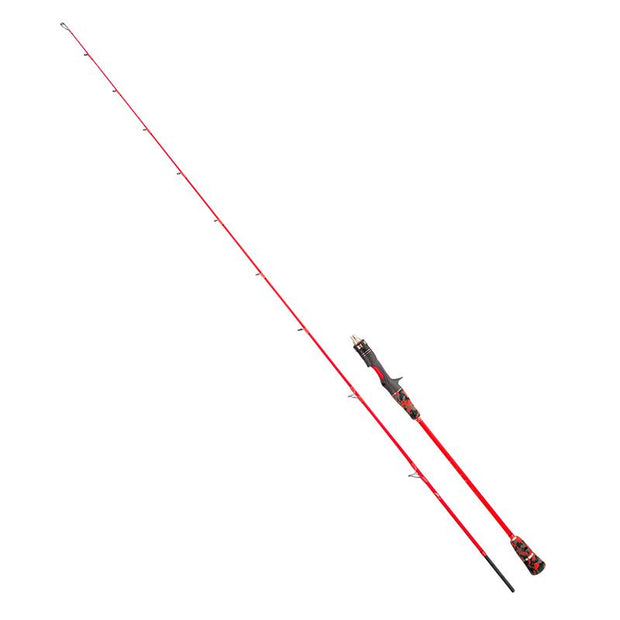 "GOOFISH® 6'6"" Orange Micro Offshore Slow Pitch Jigging Rod 20-100g Jig with Solid Nano Blank"