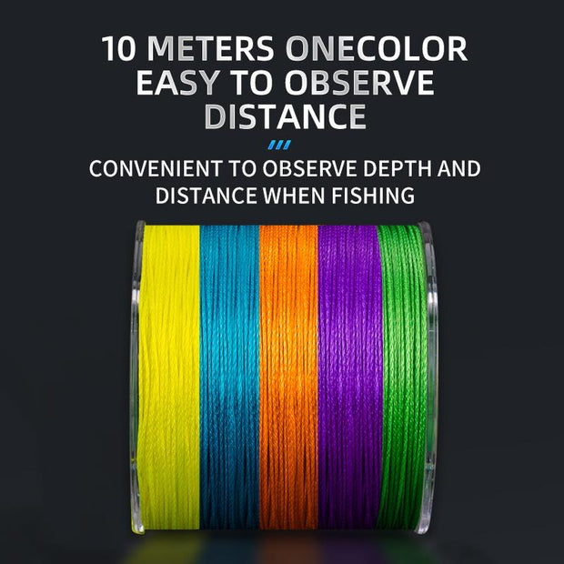 GooFish 8/9 Strands PE Braided Fishing Line Super Strong Smooth Sea Fishing Saltwater Braid Lines
