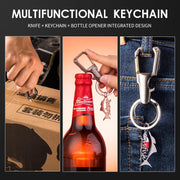 GOOFISH® Key Chain Bottle Opener package knife multi-function Carabiner Car Key Chains for Men and Women