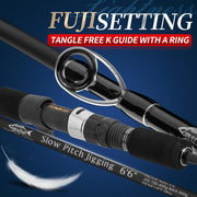 goofish black model slow pitch jigging rod