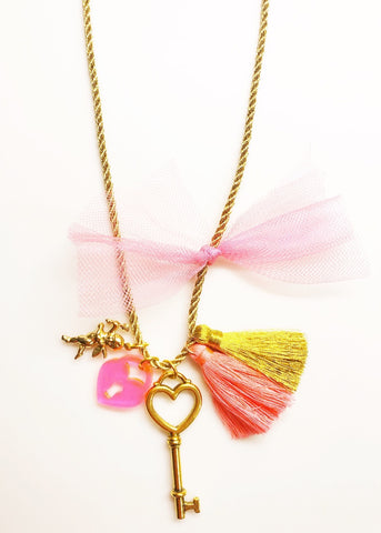 """MY HEART"" VALENTINES CHARM NECKLACE"