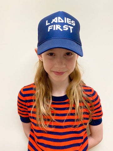 """LADIES FIRST"" NAVY BLUE HAT"