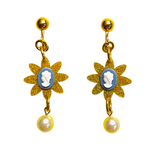 """CAMEO PEARL LOVE"" CLIP ON EARRINGS"