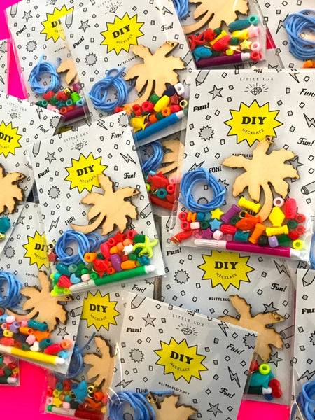 """PARTY PACK KITS"" DIY PALM TREE / or / DIY CHERRIES NECKLACE (Buy 5 get 1 FREE)"